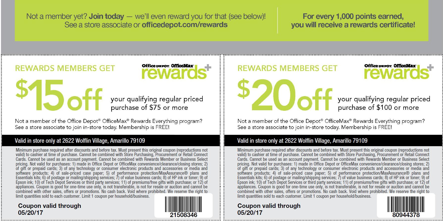 Office depot rewards coupons - Image